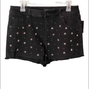 Hot Topic NWT star studded shorts low rise size 9